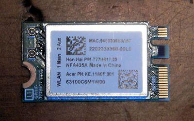 ACER SPIN 5 802.11AC WIRELESS BLUETOOTH CARD QUALCOMM ATHEROS QCNFA435 NFA435