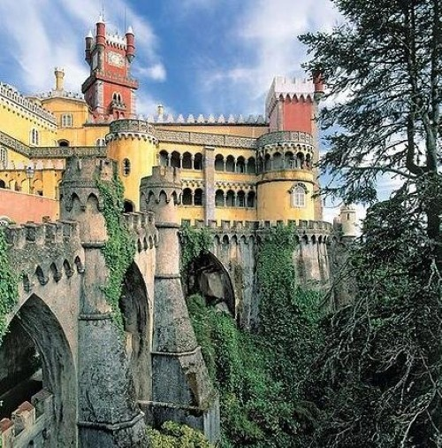 Sintra, Portugal Palace - real Sleeping Beauty place .... loved it when I was there!