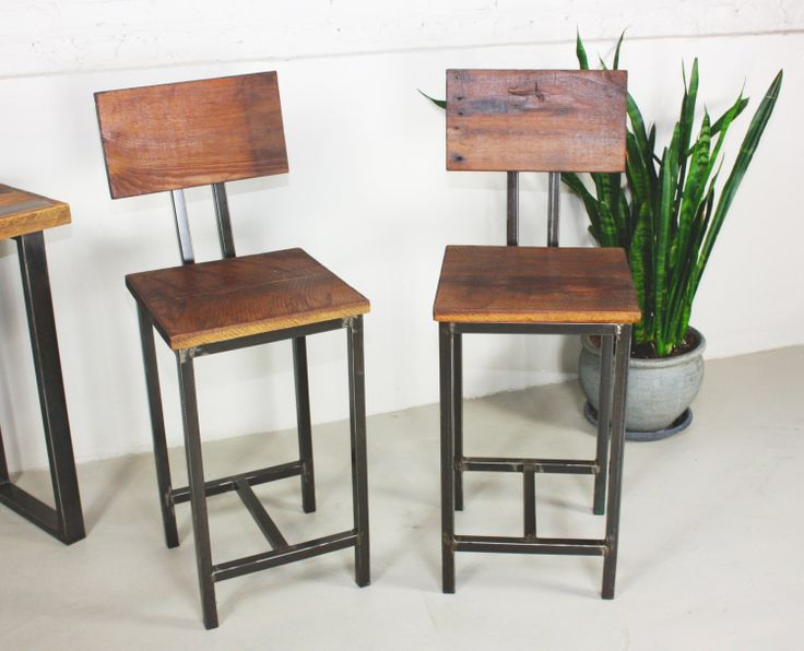 reclaimed wood bar stools by wwmake on Etsy, $495.00