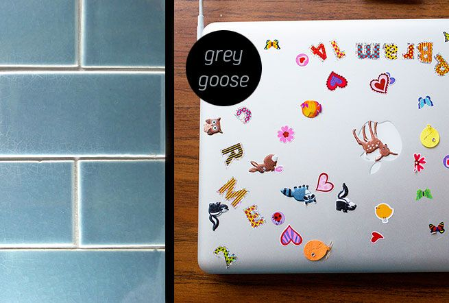 Grey Goose. Ceramic glazed tile made in New Zealand by Middle Earth Tiles.