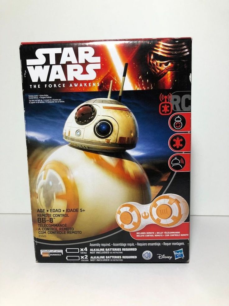 NEW STAR WARS Disney Hasbro RC Controlled BB-8 FULL DIRECTIONAL CONTROL & SOUNDS #Hasbro