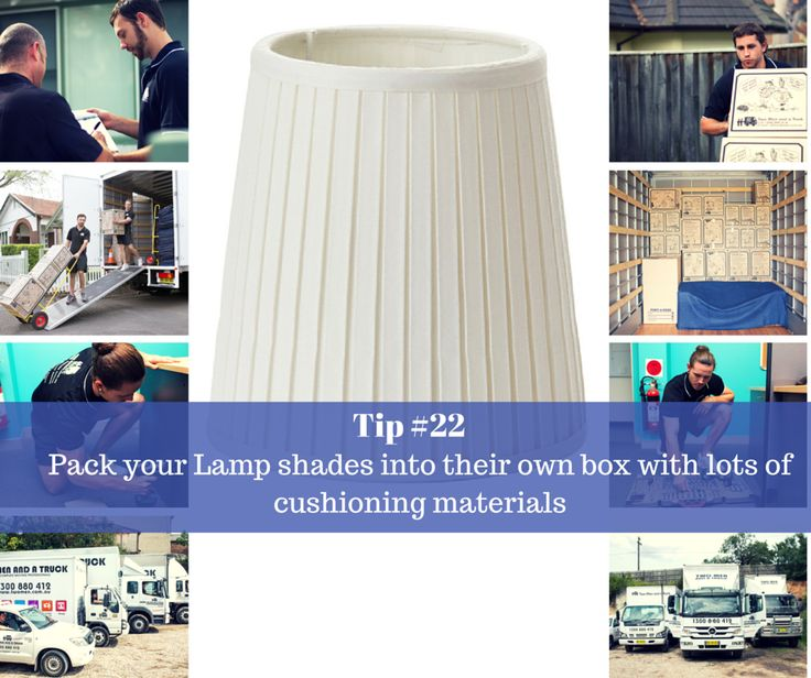 One of the most common things to get broken during moves are lampshades. They are flimsy, delicate things that are often quite difficult and annoying to replace - After all you liked the lampshade you originally had on it. This weeks #moving #tip is paramount in protecting your lampshade closely followed by proper packing.