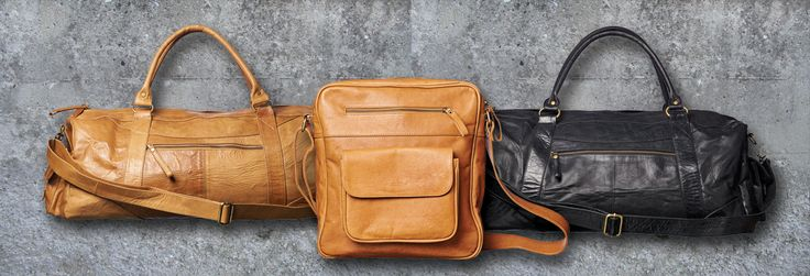The great travel bags from our designer Encoded - sheep skind handmade on Bali
