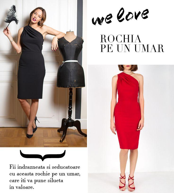 One shoulder dress <3 Shop online: http://shop.andreearaicu.ro