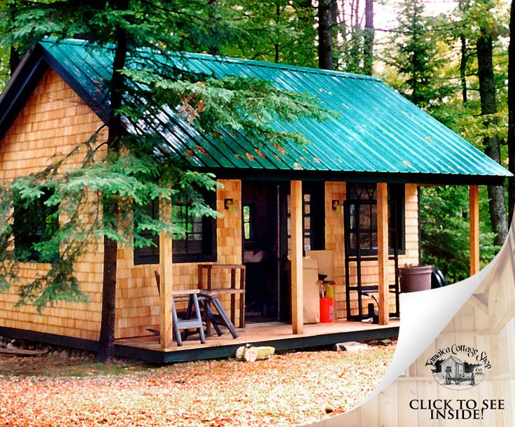 2528 best cottages and cabins shacks and shanties for Small metal cabins
