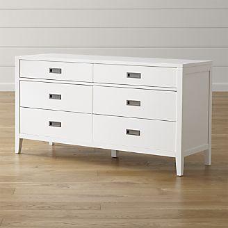 Arch White 6-Drawer Dresser.