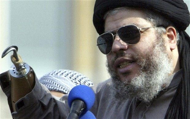 abu hamza - Yes he's in jail in America now, but his relatives are living in a London mansion,paid for by us with thousands of pounds in benefits each month !!!.