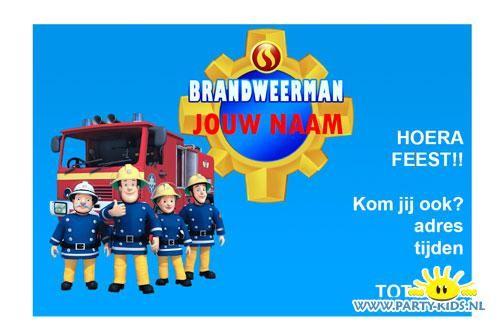 Brandweerman Sam uitnodiging #diy #pdf