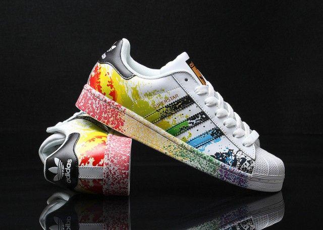 Mens Womens Adidas Superstar Pride Pack