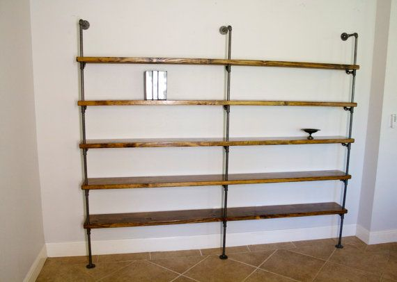 Industrial shelving unit   Modern pipe bookcase   Shelving unit    Industrial shelves   Custom shelving   Storage shelving   Pipe bookshelves. 60 best Industrial Shelving images on Pinterest   Pipe shelving