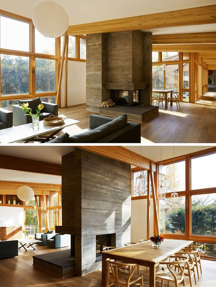 Best 25 3 sided fireplace ideas on pinterest modern for House plans with double sided fireplace