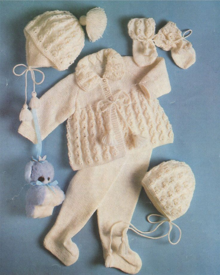 Babys Pram Set PDF Knitting Pattern : Baby Boys or Girls 16, 18 and 20 inch chest . Babies Outdoor Set . 4 Ply . Instant Download by PDFKnittingCrochet on Etsy