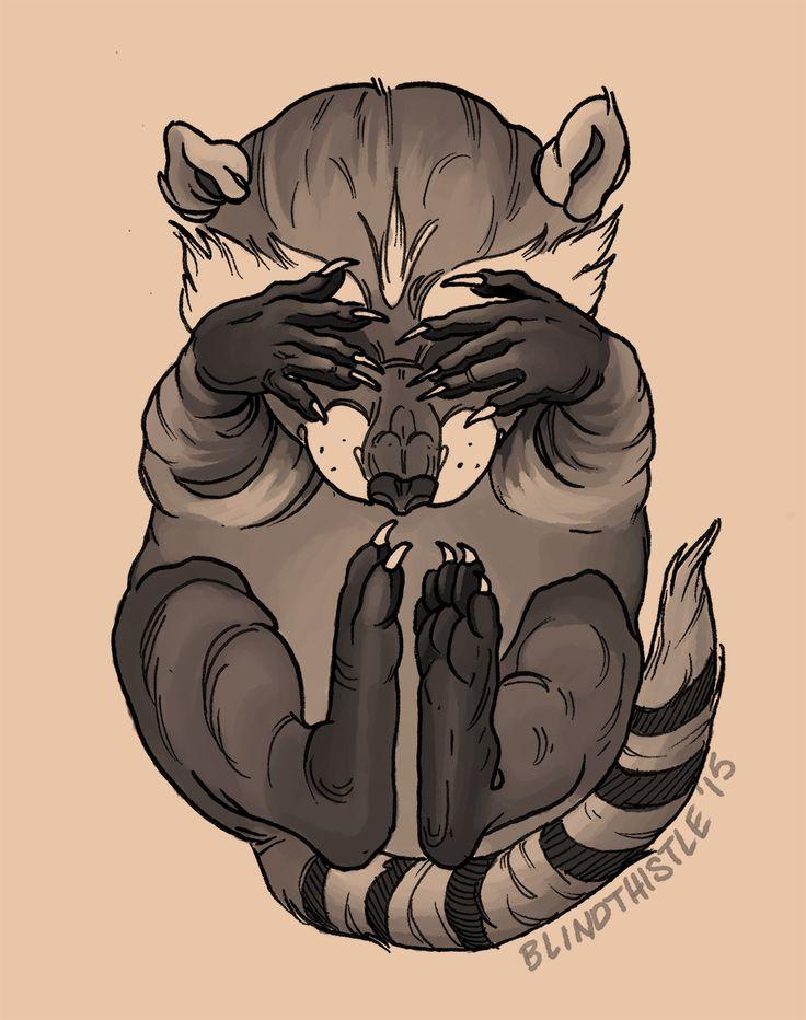 Raccoon Flash by blindthistle on DeviantArt