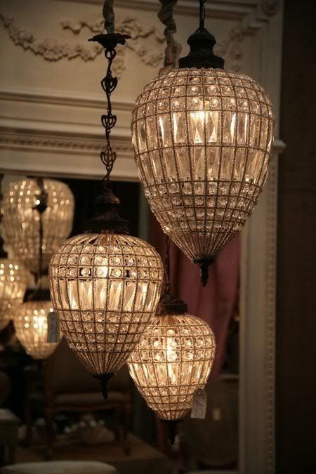 Vintage crystal lights..