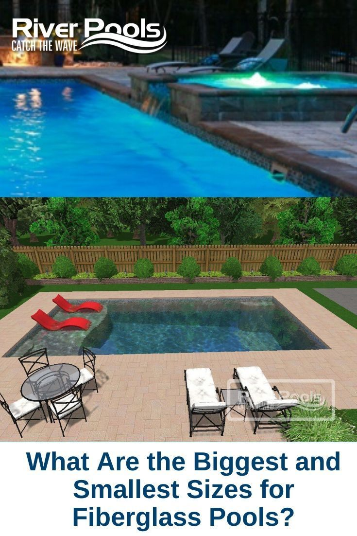 What Are The Biggest And Smallest Sizes For Fiberglass Pools Small Fiberglass Pools Fiberglass Pool Manufacturers Fiberglass Pools