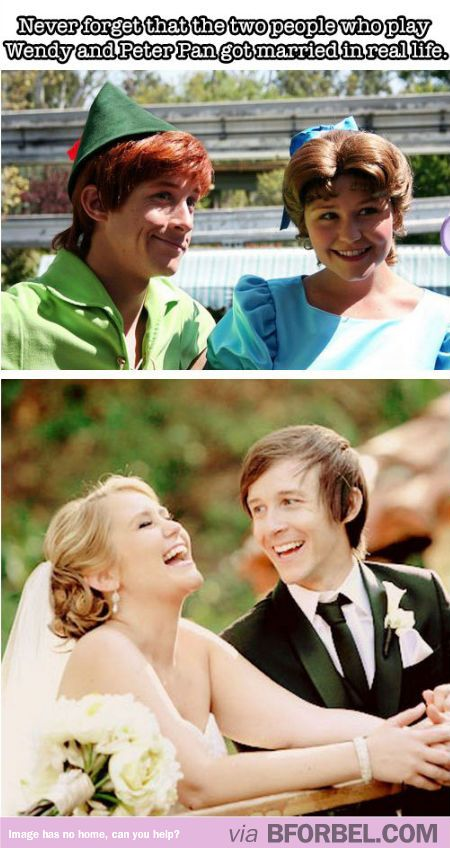 A real Disney love story- Peter Pan and Wendy got married