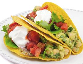 Chickpea Tacos Recipe | Vegetarian Times - Easy, fresh, delicious.