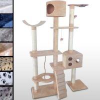 Katzen kratzen mit ihren Tatzen an diesem Kratzbaum für Katzentatzen  Extra großer Katzenkratzbaum mit vielen Spiel- und Kuschel-möglichkeiten: Hier kann sich ihr Stubentieger so richtig austoben!