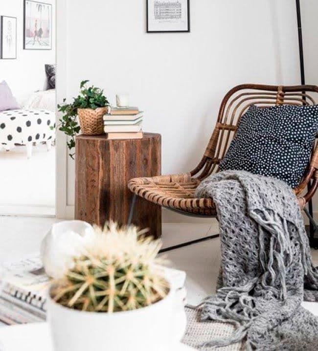 """""""La mezcla de tejidos, las formas orgánicas y los materiales naturales son algunas de las claves que definen al look boho natural.""""  Santayana Home, estudio de interiorismo. Boho natural   Ventas en Westwing"""
