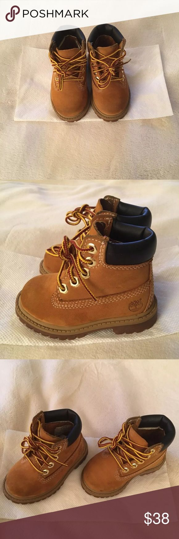 Toddler timberlands size 4 Toddler Timberlands unisex size 4. Please note these boots were only worn a few times, however, they do have some minor scuff marks. Timberland boots come without the box. Timberland Shoes Boots