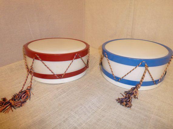 Vintage Childs Bedroom Light  Drum Light  Blue by bluejeanjulie, $65.00