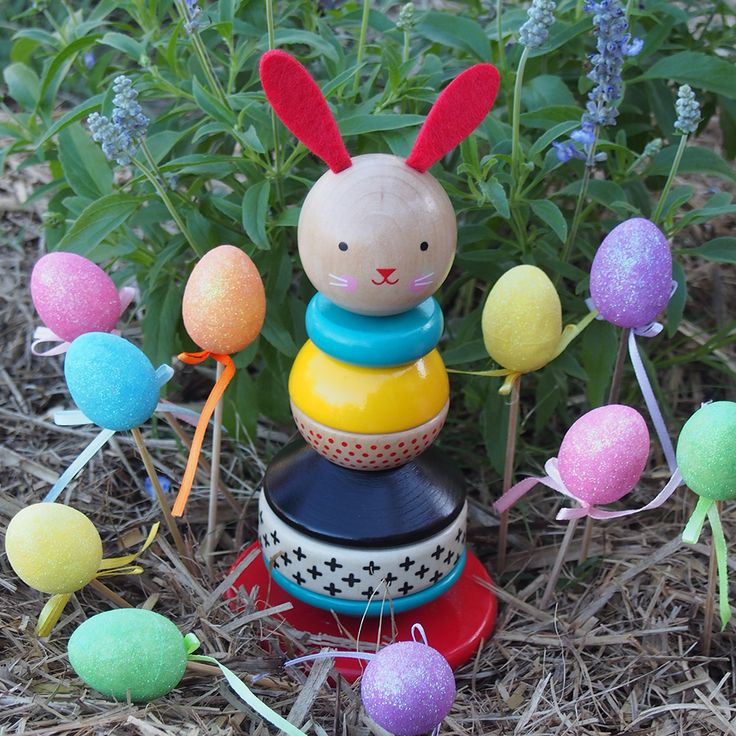 This gorgeous bunny is a wooden stacking toy that gently rocks on its curved base.  Learn hand/eye coordination while having a blast!  Available online at www.theheracollective.com.au