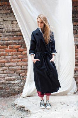 Boho trench. Black coat. Women stuff.