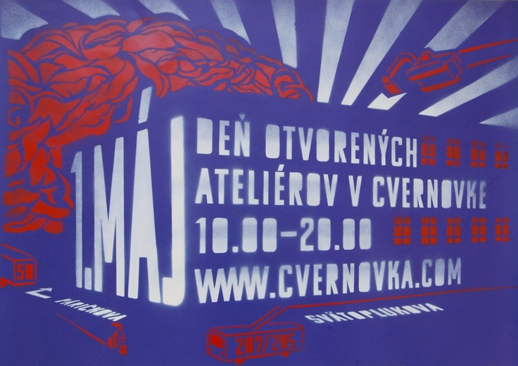 Komu Typeface was used as a base before cutting the letters for this poster. /// Design by Cvernovka team