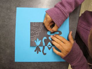 Zilker Elementary Art Class. Studying positive and negative space.