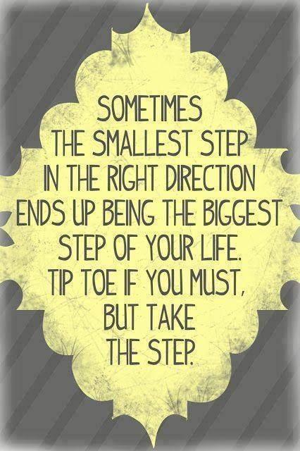 Little steps.