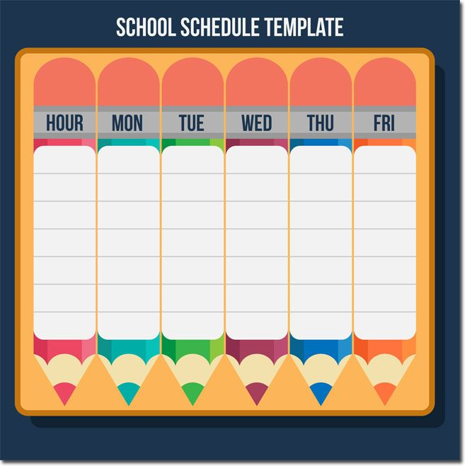 10 Students Weekly Itinerary And Schedule Templates