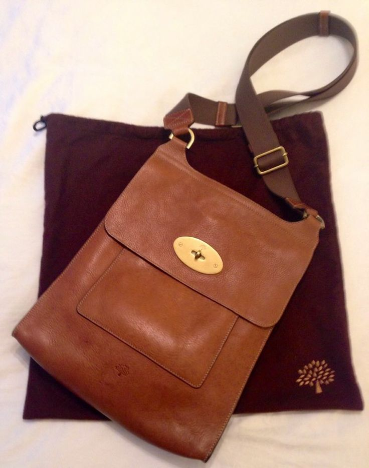 Genuine Mulberry Antony Messenger Bag In Oak-larger Size