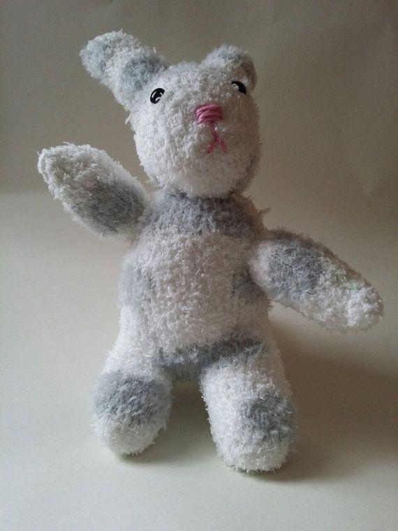 Sock Bunny Hand Sewn Teddy