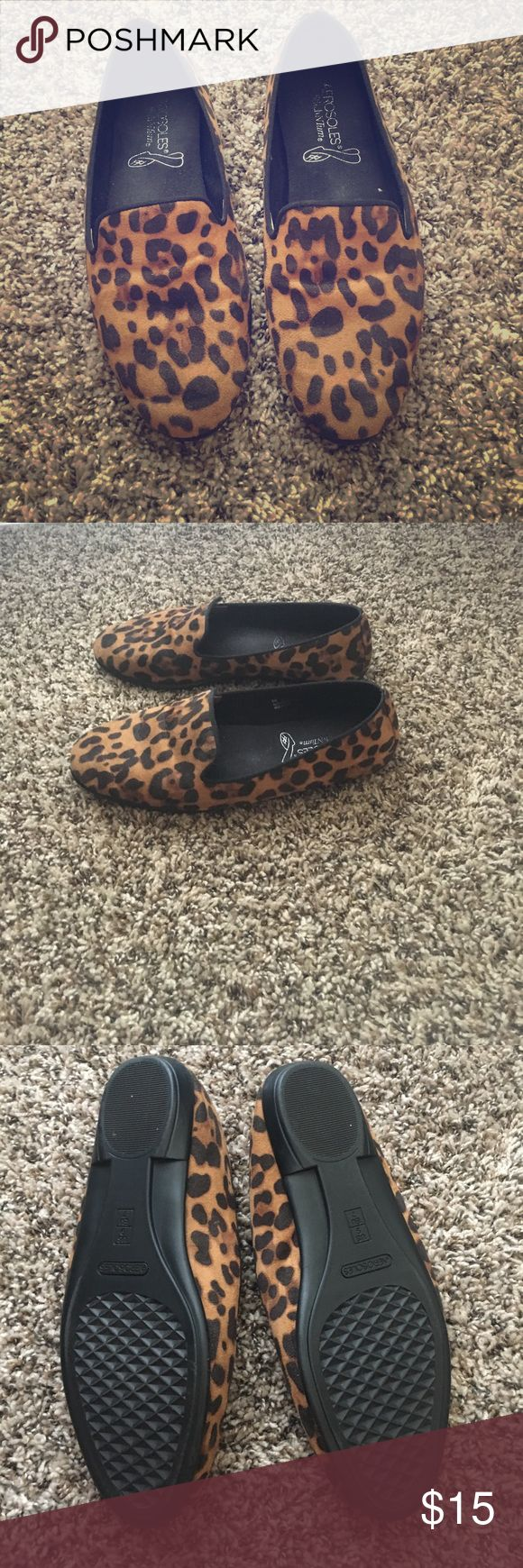 Leopard Print Loafer Size 9 Aerosoles This adorable leopard print loafer is stylish and comfortable. Worn once, they are in great condition! AEROSOLES Shoes Flats & Loafers