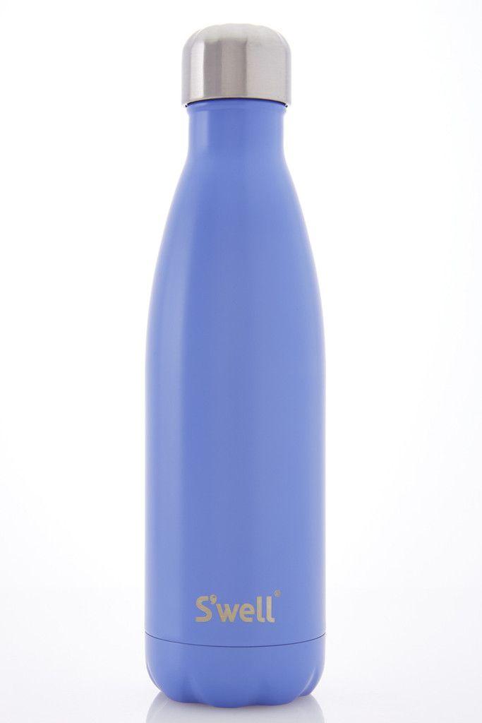 17oz bottle in Satin Monaco Blue  S'Well Bottle  $35.00 x SHOP NOW: http://www.caciqueboutique.com/collections/water-bottles/products/swell-bottle-satin-monaco-blue #swellbottle #caciqueboutique