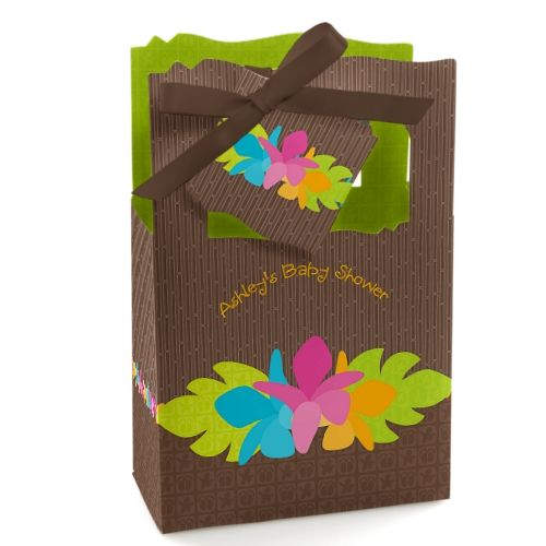 Luau - Personalized Baby Shower Favor Boxes - Personalize them for a birthday party or a work party too! #BigDot #HappyDot #Luauparty