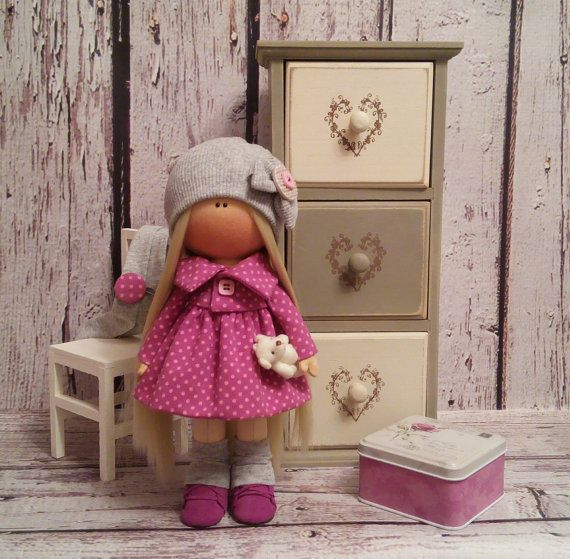 Lovely Tilda doll Art doll handmade blonde by AnnKirillartPlace