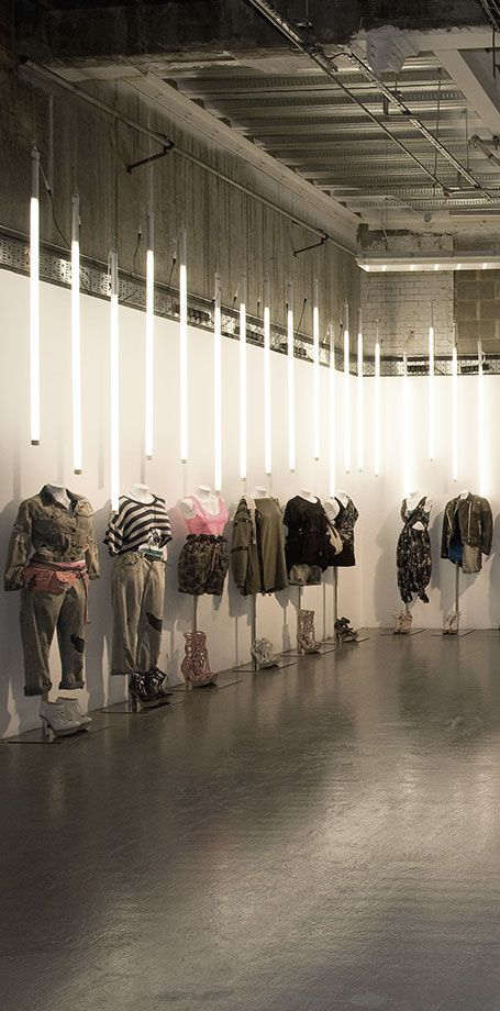 """ARCADIA GROUP (PRESS DAY), The Flower Cellars, London, UK, """"Fashion Meets Light"""", creative by Marmalade, London, pinned by Ton van der Veer"""