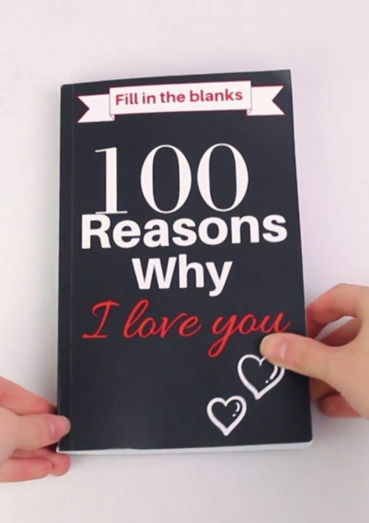 100 Reasons Why I Love You Fill In The Blank Gift Book 100