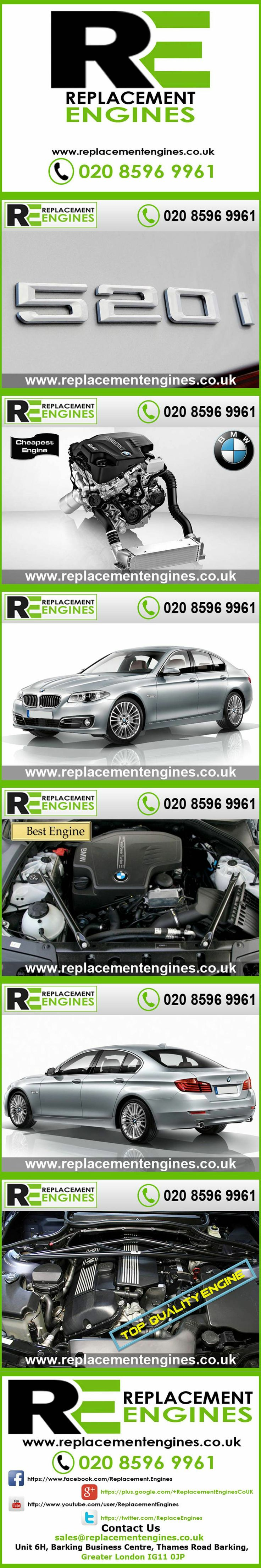 BMW 520i Engines for sale at the cheapest prices, we have low mileage used & reconditioned engines in stock now, ready to be delivered to anywhere in the UK or overseas, visit Replacement Engines website here.  http://www.replacementengines.co.uk/car-md.asp?part=all-bmw-520i-engine&mo_id=520