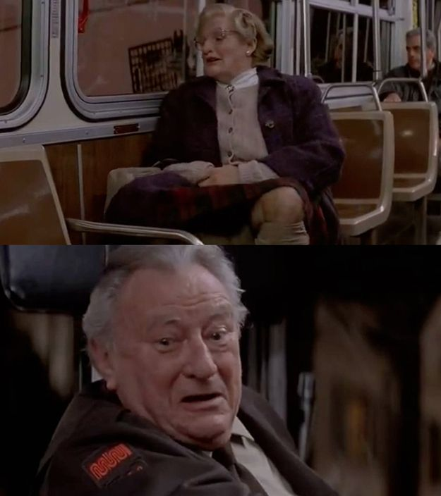 39 Mrs Doubtfire 39 Is Actually The Most Horrifying Movie Of All Time Movies Scene And Buses