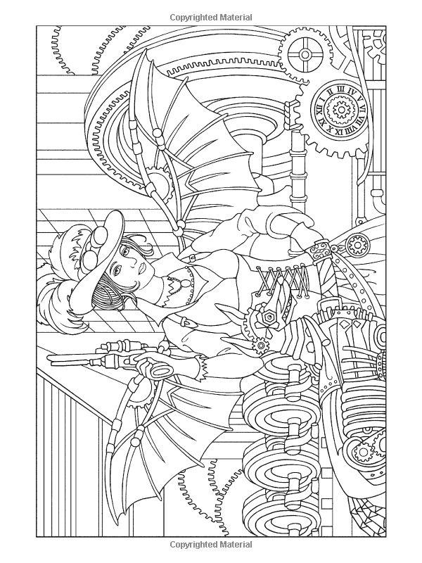 Amazing Design Coloring Book 78 Amazon Creative Haven Steampunk