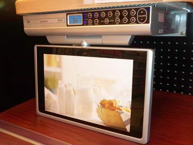 """The Top 4 Under Cabinet TVs for Your Kitchen: Audiovox 12"""" 720p LCD TV/DVD Combo - Model KLV3913"""