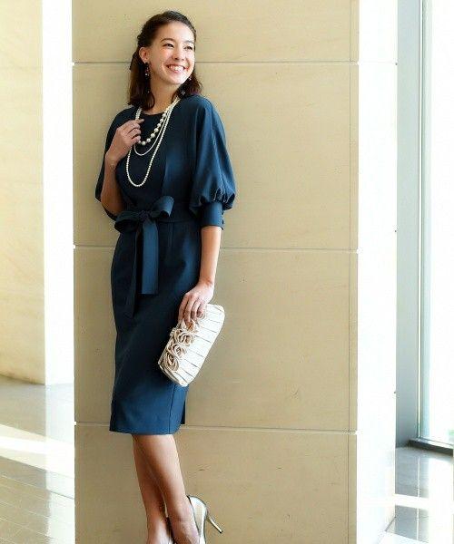 【ZOZOTOWN】RUIRUE BOUTIQUE(ルイルエブティック)のドレス「【結婚式・二次会・パーティー対応】ロング&リーンシルエットが美しいバルーンスリーブワンピース」(U549)を購入できます。