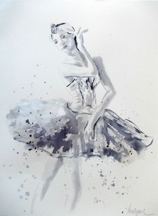 Buy Ballerina 10- Original ballet watercolor painting, Watercolor by Antigoni Tziora on Artfinder. Discover thousands of other original paintings, prints, sculptures and photography from independent artists.