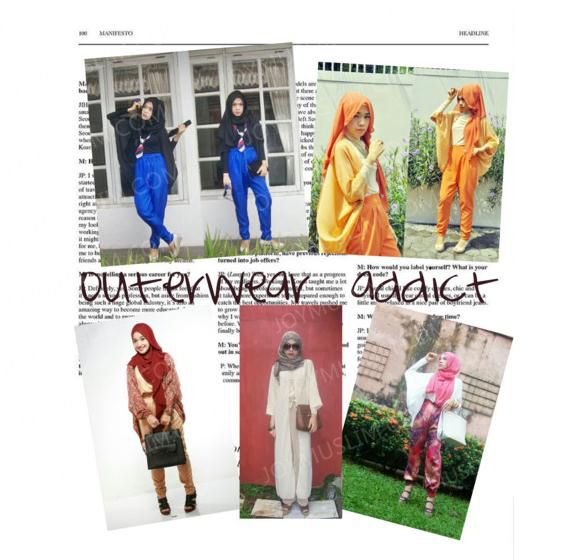 Casual clothes with stylish hijab, very attractive