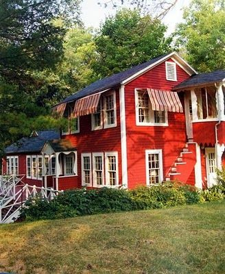 121 best homes painted red!!! images on pinterest | red houses