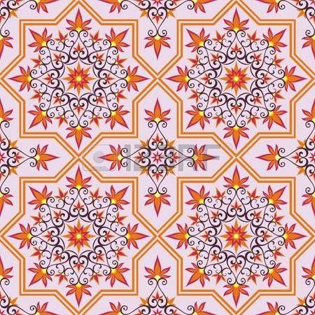 ISLAMIC BORDER: Arabesco. Patrón de estilo morisco. Textura árabe sin fisuras. Elemento de diseño. antecedentes islámicos. ornamento oriental.