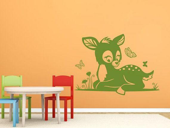 Sticker murale CUTE LITTLE DEER, da vivaio