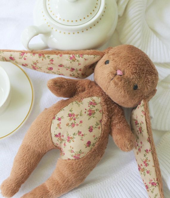 Unique and special gift idea for children, friends, family, and toy lovers.  Meet the Tati Brown Cuddle Bunny Rabbit... who loves to cuddle up to a